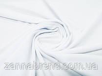 Ткань футер двунитка однотонная цвет белый (ширина 1,6 м)