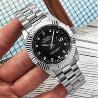 Наручний Годинник Rolex Date Just 067 New Silver-Black, фото 1