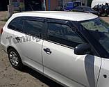 Дефлектори вікон, вітровики Skoda Fabia II універсал 2007-2014 (Hic), фото 2