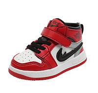 Детские демисезонные ботинки на липучках Sport 21-25 р-р красные
