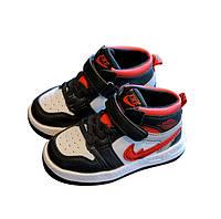 Детские демисезонные ботинки на липучках Sport 21-25 р-р черные
