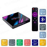 Смарт ТВ приставка H96 MAX 2/16 Гб Android 10 Smart TV Box Андроїд ТВ бокс