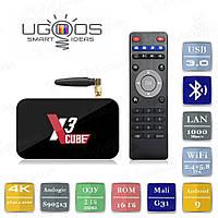 Смарт ТВ приставка Ugoos X3 Cube 2/16 Гб Android Smart TV Box Андроїд ТВ бокс