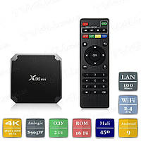 Смарт ТВ приставка X96 mini 2/16 Гб Android 9 Smart TV Box Андроїд ТВ бокс