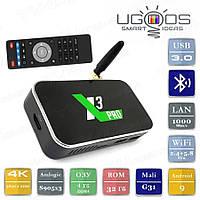 Смарт ТВ приставка Ugoos X3 PRO 4/32 Гб Android Smart TV Box Андроїд ТВ бокс