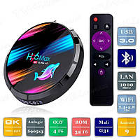 Смарт ТВ приставка H96 Max X3 4/32 Гб Android Smart TV Box Андроїд ТВ бокс