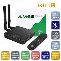 Смарт ТВ приставка Ugoos AM6B Plus 2021 4/32 Гб WiFi 6 Android Smart TV Box Андроїд ТВ бокс, фото 1