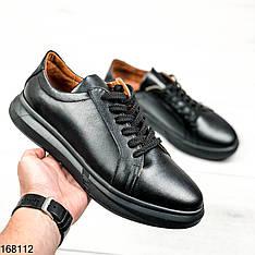 Кроссовки  мужские Alexandr черные на толстой подошве | Натуральная кожа | Кеды кожаные Alexander McQueen