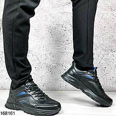 Кроссовки мужские Chad черные с черной подошвой на шнурках | ЭВА + эко кожа| Осень весна | Видео обзор