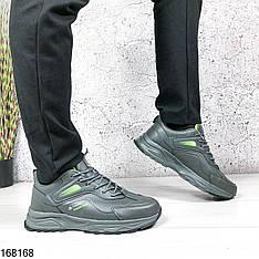 Кроссовки мужские Chad серые с серой подошвой на шнурках | ЭВА + эко кожа| Осень весна | Видео обзор