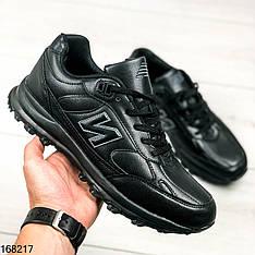 Кроссовки мужские Neddie черные в стиле new balance на шнурках | Эко кожа | Осень весна | Видео обзор