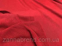 Трикотажна тканина трехнитка петля червоного кольору (Туреччина)