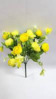 Жовтий букет крокусів 29см,штучний кущ з квітами, фото 1
