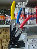 Керамические ножи на подставке 3шт
