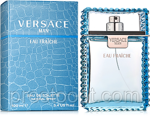 Мужская туалетная вода Versace Man Eau Fraiche 100 мл (Euro A-Plus)