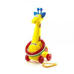"""Кільцекид на колесах """"Жираф"""" (жовта)"""