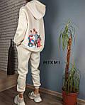 Женский костюм батал, трехнитка на флисе, р-р универсальный 48-52 (беж), фото 2