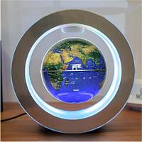 Глобус світлодіодний світильник з магнітною левітацією у вигляді карти світу, фото 1