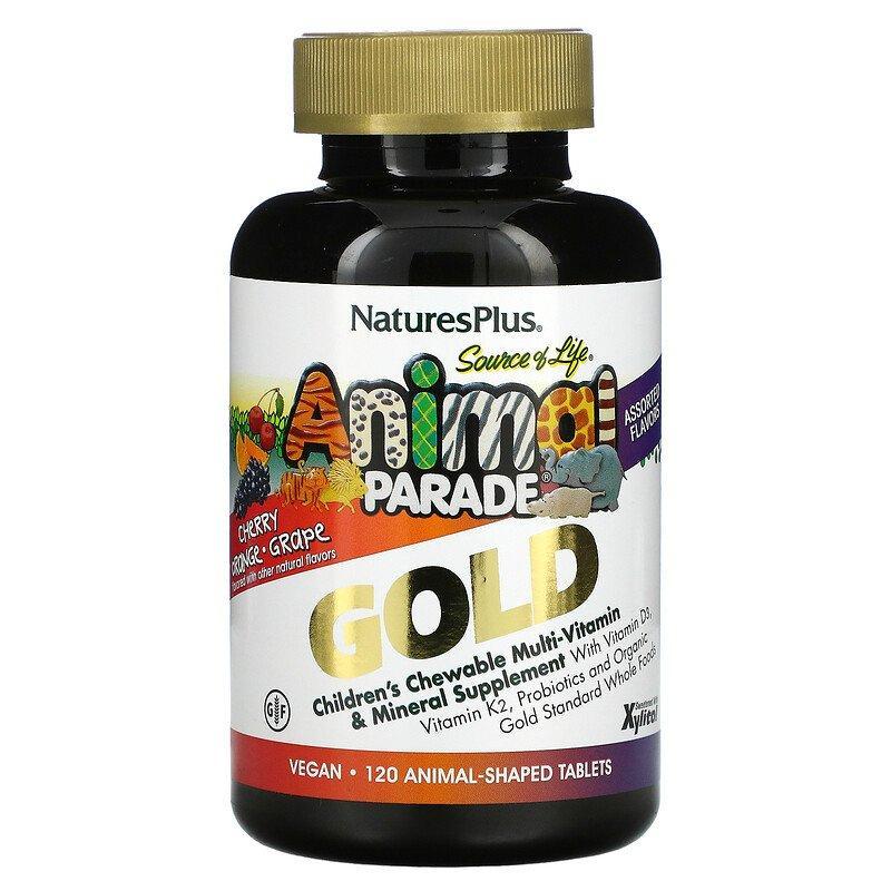 Вітаміни Animal Parade Gold Children's Chewable Multi-Vitamin & Mineral Nature's Plus 120 Animals
