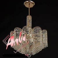 Люстра из хрусталя для зала, спальни с высокими потолками на 7 лампочек