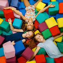Кубики для сухих басейнів м'які дитячі розмір 15х15х15см різнокольорові 24 шт