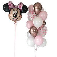 Детские шары на день рождения с фигуркой Минни Маус