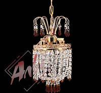 Хрустальный подвес для прихожей, спальни на 3 лампочки
