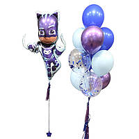 Шары на детский день рождения с фольгированной фигурой Герои в масках