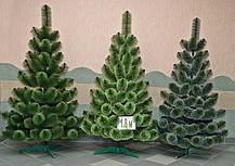 """Штучна новорічна зелена сосна зрозпушена з інеєм """"СНІГ"""" ПВХ, висота 2,2 м, фото 2"""