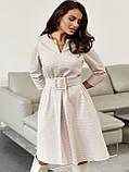 Платье-трапеция в клетку с поясом в комплекте, фото 4