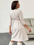 Платье-трапеция в клетку с поясом в комплекте, фото 6