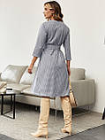 Сукня-трапеція в клітку з поясом в комплекті, фото 3