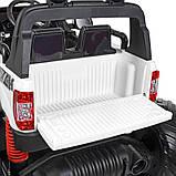 Дитячий електромобіль на акумуляторі Jeep M 4273 з пультом радіоуправління для дітей 3-8 років білий, фото 7