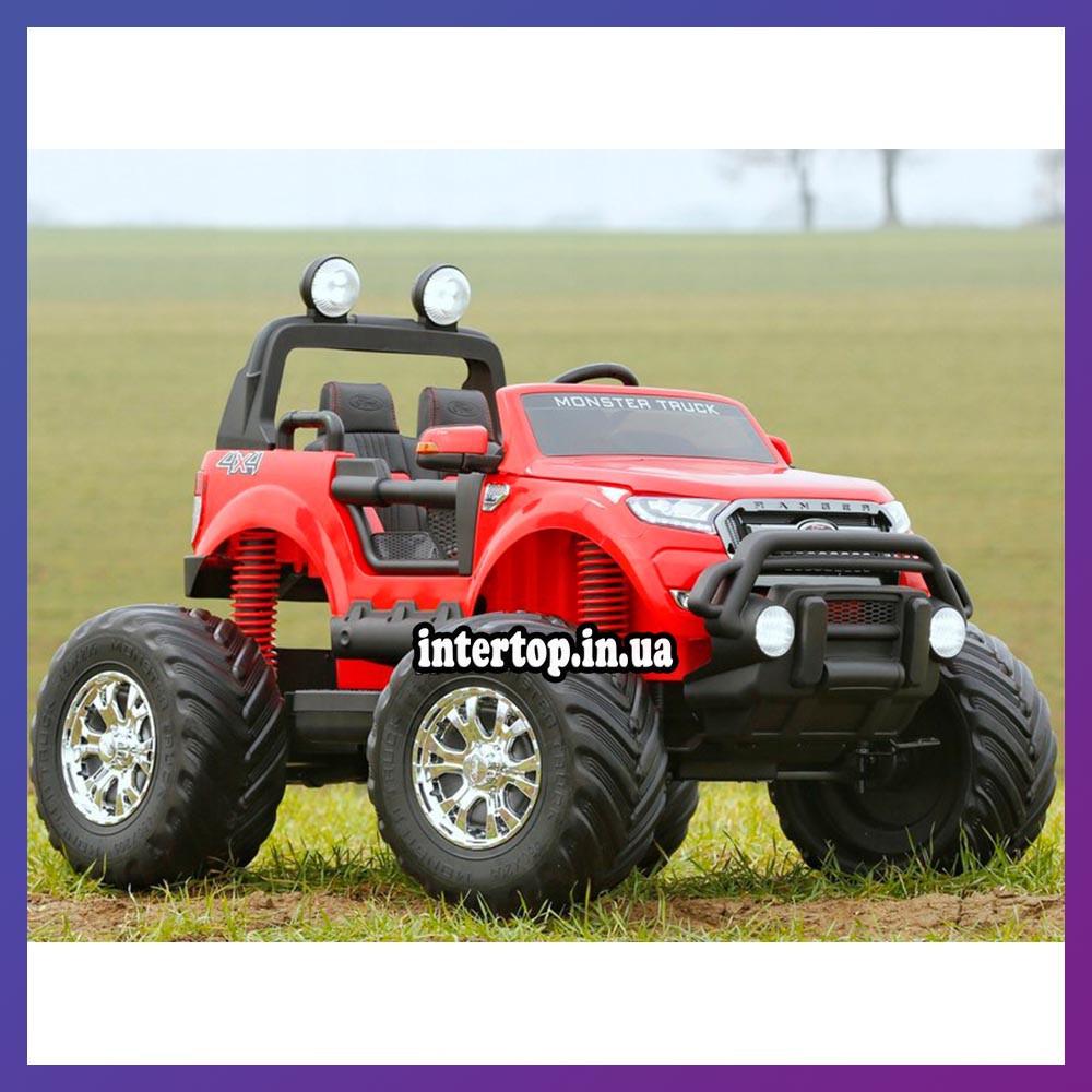 Дитячий електромобіль на акумуляторі Jeep M 4273 для дітей 3-8 років червоний