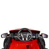 Дитячий електромобіль на акумуляторі Jeep M 4273 для дітей 3-8 років червоний, фото 2