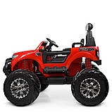 Дитячий електромобіль на акумуляторі Jeep M 4273 для дітей 3-8 років червоний, фото 3