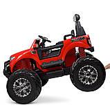Дитячий електромобіль на акумуляторі Jeep M 4273 для дітей 3-8 років червоний, фото 4