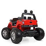 Дитячий електромобіль на акумуляторі Jeep M 4273 для дітей 3-8 років червоний, фото 5