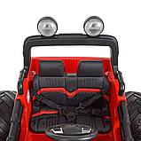 Дитячий електромобіль на акумуляторі Jeep M 4273 для дітей 3-8 років червоний, фото 6