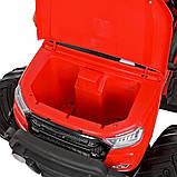 Дитячий електромобіль на акумуляторі Jeep M 4273 для дітей 3-8 років червоний, фото 9