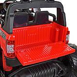 Дитячий електромобіль на акумуляторі Jeep M 4273 для дітей 3-8 років червоний, фото 10