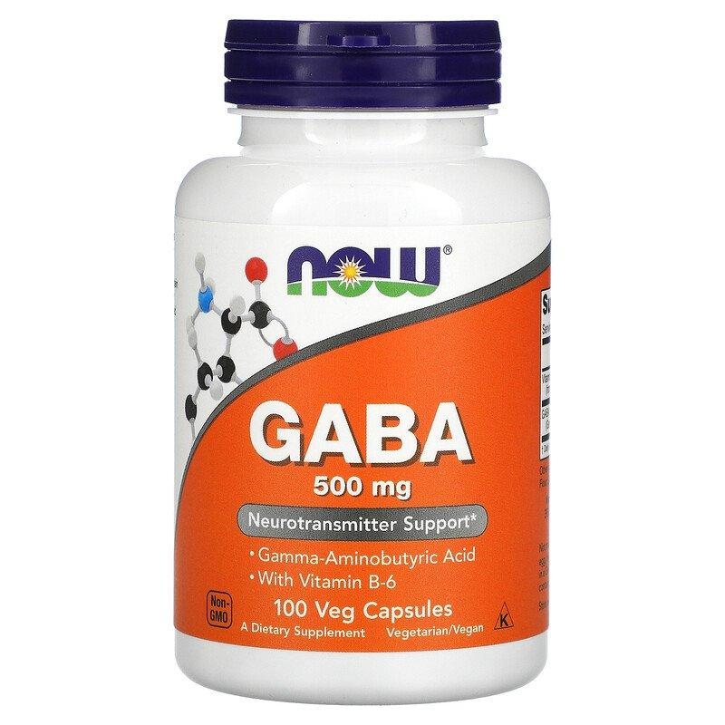 GABA 500 мг Now Foods 100 капсул