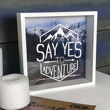 Деревянная копилка для денег MoneyBox Say Yes to Adventure (S123835)