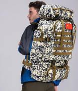Рюкзак туристичний xs1725-2 чорний, 70 л, фото 4