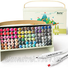 Спиртовые маркеры Arrtx Alp ASM-0290B 90 цветов