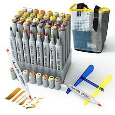 Спиртовые маркеры Arrtx OROS ASM-03YL 40 цветов, желтые оттенки