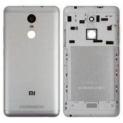 Задня кришка для Xiaomi Redmi Note 3, Redmi Note 3 Pro сіра з бічними кнопками