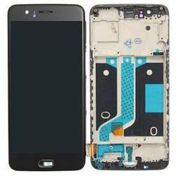 Дисплей OnePlus 5 A5000 с тачскрином черный в рамке OLED