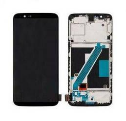 Дисплей OnePlus 5T A5010 с тачскрином черный в рамке OLED