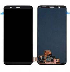 Дисплей OnePlus 5T A5010 с тачскрином черный в рамке TFT